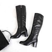 03 花型金属扣皮带长靴 特