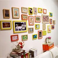 26框客厅照片墙相框墙相片墙挂墙组合夹子悬挂无痕钉网格
