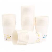 晨光水杯 纸杯 塑料杯 加厚型 一次性杯子 喝水纸杯 办公室咖啡杯 50/100个装 单色/混色