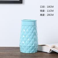 时尚创意蓝白色陶瓷花瓶简约现代假花干鲜花花器客厅餐桌家居摆件