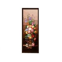 数字油画 客厅 竖版大幅手绘装饰画 富贵满堂 手绘装饰画