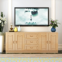 实木电视柜简约现代组合家具客厅柜子田园储物柜卧室柜松木电视柜 组装