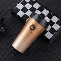 白领公社 保温杯 个性简约便携不锈钢杯子男女创意礼品水杯可手提大容量办公户外咖啡杯