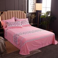 全棉生态磨毛床单单件加厚床上用品被单子双人加大圆角纯棉布床单