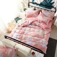 韩式公主水晶绒四件套天鹅绒床单被套加厚保暖春秋床品