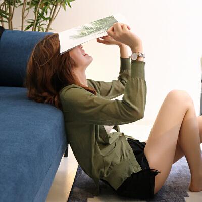 短袖开衫女短款小外搭夏季韩版百搭镂空针织衫披肩薄款空调衫