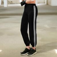 新款女士健身房跑步运动显瘦九分裤瑜珈舞蹈宽松休闲速干运动裤女瑜伽服下装