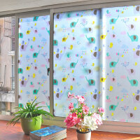 卡通无胶静电玻璃贴膜透光不透明窗贴磨砂卫生间浴室防晒窗户贴纸