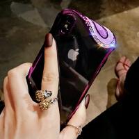 新款苹果x手机壳奢华钻6s全包防摔iPhone8plus挂绳7p硅胶套潮牌女