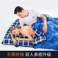 露营户外睡袋双人保暖厚款便携室内宾馆隔脏旅行睡袋冬季睡袋