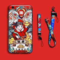财神中国风苹果7plus手机壳个性创意iphone6s招财浮雕8潮牌情侣6p彩绘硬壳全包防摔六苹果七