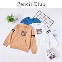【3折价:36】铅笔俱乐部童装2020春装新款男童卫衣中大童长袖上衣儿童圆领卫衣