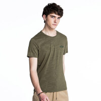 camel 骆驼男装 年夏季新款暗迷彩休闲男青年上衣 圆领印花短袖T恤