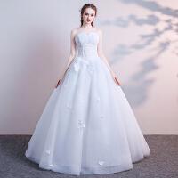 抹胸婚纱礼服2018新款冬季新娘小个子端庄大气简约齐地夏季森系轻
