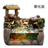 微景观流水养鱼缸喷泉创意摆件装饰客厅假山加湿器开业*品