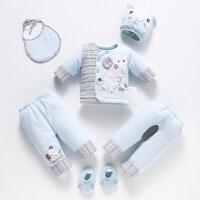 冬季加厚婴儿棉衣套装新生儿衣服宝宝棉袄外套秋冬男女3个月