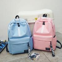 书包女韩版原宿ulzzang 高中学生电脑包大容量双肩包休闲旅行背包