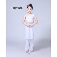 儿童古典舞蹈服装演出服女水墨伞舞扇子舞表演服饰