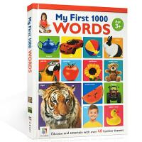 儿童英文原版 我的启蒙认知书1000个单词 My First 1000 Words 小学生英语学习工具教材书 全彩图画