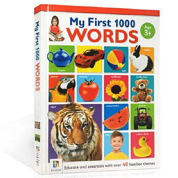 儿童英文原版 我的启蒙认知书1000个单词 My First 1000 Words 小学生英语学习工具教材书 全彩图画字典 提高记忆力书 进口书 正版