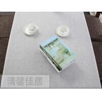 亚麻纯色餐桌布艺会议室棉麻桌布简约风格书桌茶几台布盖巾定制