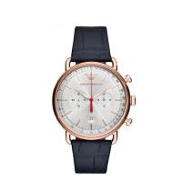 阿玛尼 Emporio Armani 男士手表皮质表带 欧美简约经典商务时尚休闲石英腕表AR11123