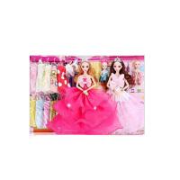 新款芭巴比娃娃套装女孩儿童玩具洋娃娃婚纱公主换装礼盒 30厘米以下