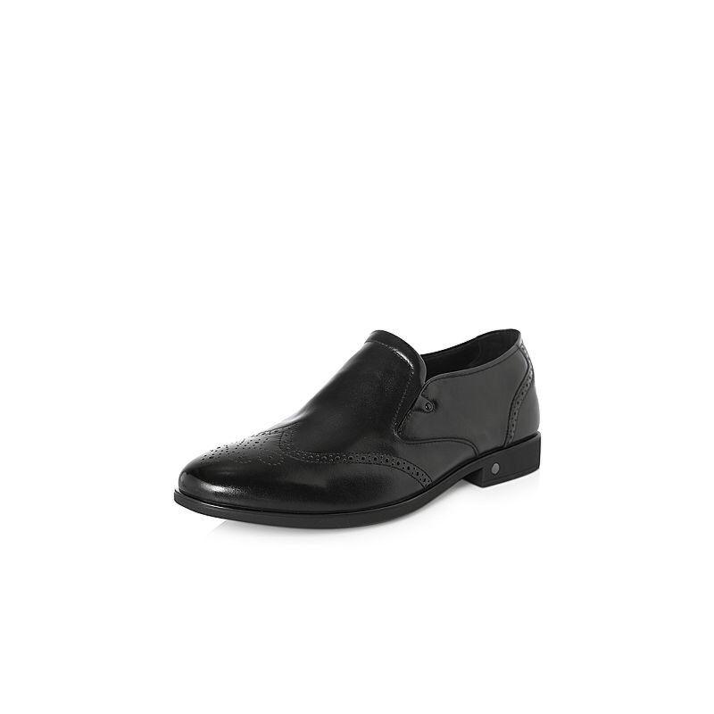 Belle/百丽2018春季新品专柜同款牛皮革男皮鞋5PT02AM8