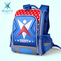 Ergofit爱高适 ER005蓝色 健康护脊小学生书包男EVA儿童书包 当当自营