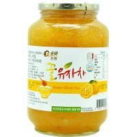 全贤 蜂蜜柚子茶2kg大瓶餐饮装 韩国原装进口蜜柚茶酱果肉