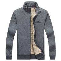 秋冬季男士卫衣开衫夹克加绒上衣外套