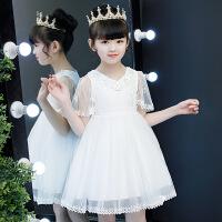 儿童演出服装女童婚纱礼服夏宝宝连衣裙幼儿园舞蹈蓬蓬公主红裙子