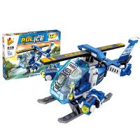 儿童积木玩具拼装卡车赛跑货车兼容乐高男女孩小颗粒组装飞机模型 681002 A