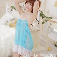 情趣内衣极度诱惑套装薄纱透明吊带透视睡裙蕾丝性感睡衣女