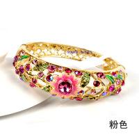 首饰母亲节礼物北京景泰蓝手镯 女民族风镀金镯 复古饰品