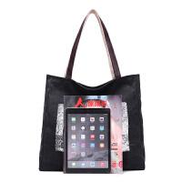 帆布包女包日韩版时尚简约印花单肩包手提袋女士包清新大包包