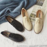 17新款秋季英伦复古学院风小皮鞋女士休闲平底韩版学生单鞋子百搭