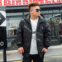 №【2019新款】冬天胖子穿的加厚棉衣棉袄潮加肥加大码宽松中长款肥佬男士外套