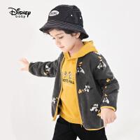 【2件2.4折价:52.5元】迪士尼童装男童摇粒绒立领外套2021春装洋气儿童宝宝休闲上衣