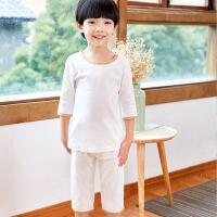 儿童纯棉睡衣夏天薄款女童家居服套装男童空调服春秋季第二件