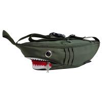 20180522042744835新款韩版漆皮帆布男女包包单肩斜挎包小包潮流疯狂鲨鱼胸包