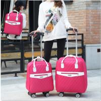 新款双肩拉杆包女手提行李包万向轮登机箱包防水旅游包轻便旅行包