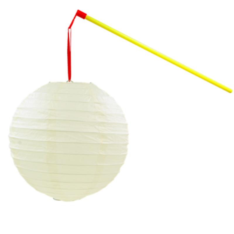 儿童手提发光纸灯笼幼儿园舞蹈道具2018新年闹元宵节挂饰摄影拍照 米白色 杆子+LED灯+灯笼 发货周期:一般在付款后2-90天左右发货,具体发货时间请以与客服协商的时间为准