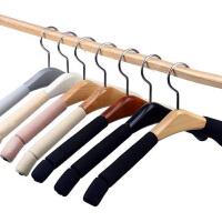 洗晒/熨烫法式宽肩实木衣架西装大衣防滑海绵无痕衣架衣挂裤架夹3个装I9wd7 3个