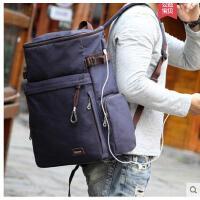 多功能双肩包男士旅游包户外登山包帆布旅行背包大容量户外