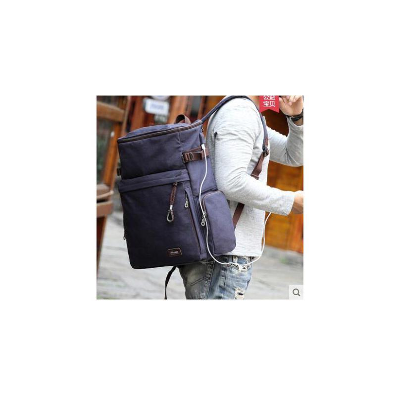 多功能双肩包男士旅游包户外登山包帆布旅行背包大容量户外 品质保证 售后无忧 支持货到付款