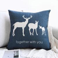 沙发抱枕北欧靠枕客厅靠垫简约车内文艺办公室靠背枕含芯棉麻创意