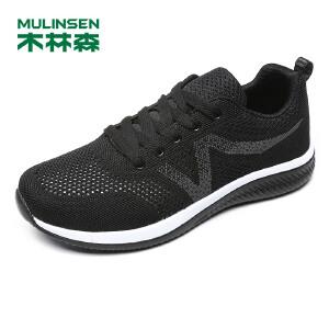 木林森男鞋 2018新款男士运动休闲透气舒适运动跑鞋