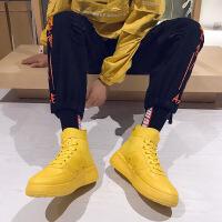 乌龟先森 高帮板鞋 冬季新款男鞋韩版时尚潮流百搭嘻哈空军一号学生保暖男鞋