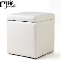 门扉 收纳凳 实木储物凳换鞋凳杂物收纳沙发凳多功能可坐人居家墩子 储物凳白色